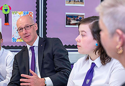 Pictured: John Swinney met students and parents in the Family Engagement Room<br />