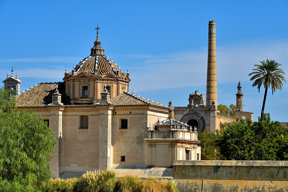 Cartuja Monastery on Cartuja Island in Seville, Spain <br />