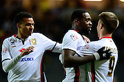 MK Dons striker Dean Bowditch celebrates his goal  during the Sky Bet Championship match between Milton Keynes Dons and Middlesbrough at stadium:mk, Milton Keynes, England on 9 February 2016. Photo by Dennis Goodwin.