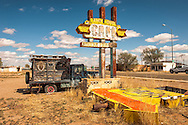 Historic Route 66, Tucumcari, New Mexico, 1959 Chevrolet Apache 36 Pickup Camper