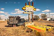 Historic Route 66, Tucumcari, New Mexico, 1959 Chevrolet Apache 36 Pickup Camper