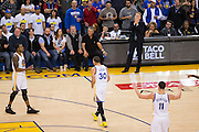 Golden State Warriors guard Stephen Curry (30) reacts to a foul called against him during a game against the LA Clippers at Oracle Arena in Oakland, Calif., on February 23, 2017. (Stan Olszewski/Special to S.F. Examiner)