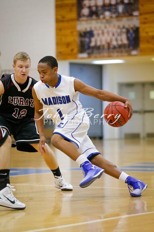 December 01, 2014.  <br /> MCHS Varsity Boys Basketball vs Luray.  Luray defeats Madison 75-39.