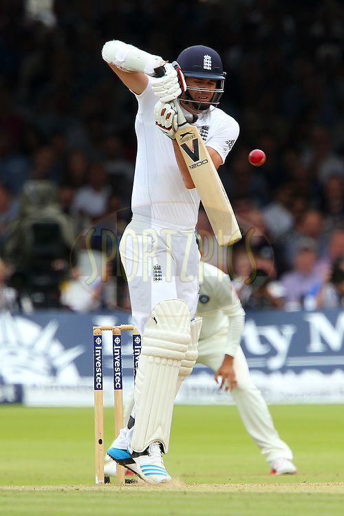 James Anderson of England during day three of the 2nd Investec test match between England and India held at Lords cricket ground in London, England on the 19th July 2014<br /> <br /> Photo by Ron Gaunt / SPORTZPICS/ BCCI