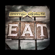 "Charles Blackburn image of the Spiffy Eat sign in Washington state. 5x5"" print."