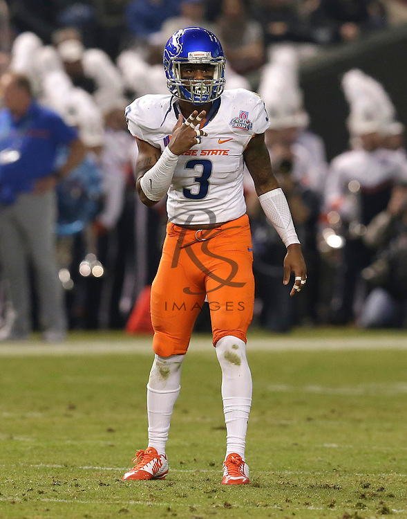 Boise State safety Chanceller James (3) during the Cactus Bowl NCAA college football game against Baylor, Tuesday, Dec. 27, 2016, in Phoenix. (AP Photo/Rick Scuteri)