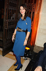 Jewellery designer LARA BOHINC at the 2005 Lancome Colour Design Awards in association with CLIC Sargent Cancer Care for Children held at the Freemasons' Hall, Great Queen Street, London on 23rd November 2005.<br />