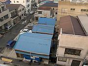 over view of a residential neighborhood Yasuura Machi in Yokosuka