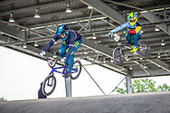 #29 (RENCUREL Jeremy) FRA at Round 6 of the 2019 UCI BMX Supercross World Cup in Saint-Quentin-En-Yvelines, France