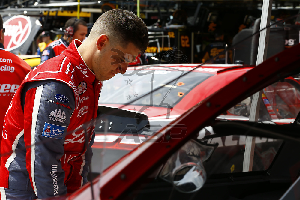 June 16, 2017 - Brooklyn, MI, USA: Ryan Reed (16) hangs out in the garage during practice for the Irish Hills 250 at Michigan International Speedway in Brooklyn, MI.