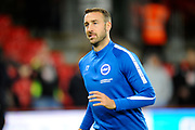 Glenn Murray (17) of Brighton and Hove Albion warming up before the Premier League match between Bournemouth and Brighton and Hove Albion at the Vitality Stadium, Bournemouth, England on 15 September 2017. Photo by Graham Hunt.