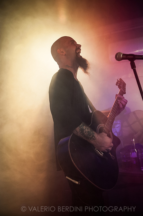 Nick Oliveri playing solo at the Portland Arms in Cambridge on 16 July 2015