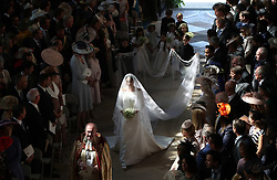 REVIEW OF THE DECADE - ROYAL File photo dated 19/05/18 of Meghan Markle walking down the aisle as she arrived in St George's Chapel at Windsor Castle for her wedding to Prince Harry.