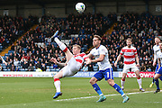 Doncaster Rovers On loan Midfielder, Gary McSheffrey shoots during the Sky Bet League 1 match between Bury and Doncaster Rovers at the JD Stadium, Bury, England on 9 April 2016. Photo by Mark Pollitt.