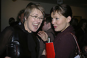 Patricia Bickers and Laura K. Jones, Art Monthly 30th birthday party. Hayward Gallery. 26 October 2006. -DO NOT ARCHIVE-© Copyright Photograph by Dafydd Jones 66 Stockwell Park Rd. London SW9 0DA Tel 020 7733 0108 www.dafjones.com