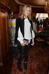 KIM HERSOV at a lunch hosted by Mary Katranzou to celebrate her LFW AW 2016 collection at Mark's Club, London on 23rd February 2016.