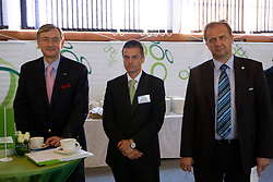 President of Republic Slovenia dr. Danilo Turk, Dimitrij Piciga and Ivan Simic at visit in Slovenian House at Hyde Park High School on June 18, 2010 in Sandton, Johannesburg, South Africa. Slovenia will play their next FIFA World Cup Group C match against USA at Ellis Park in on Friday June 18, 2010, in Johannesburg, South Africa. (Photo by Vid Ponikvar / Sportida)
