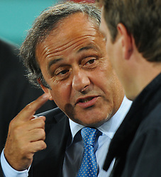 06.09.2011, Ernst Happel Stadion, Wien, AUT, UEFA EURO 2012, Qualifikation, Oesterreich (AUT) vs Tuerkei (TUR), im Bild UEFA Praesident Michel Platini // during the UEFA Euro 2012 Qualifier Game, Austria vs Turkey, at Ernst Happel Stadium, Vienna, 2011-09-06, EXPA Pictures © 2011, PhotoCredit: EXPA/ M. Gruber