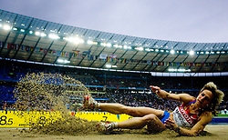 Irina Meleshina of Russia competes in the women's Long Jump Qualification during day seven of the 12th IAAF World Athletics Championships at the Olympic Stadium on August 21, 2009 in Berlin, Germany.(Photo by Vid Ponikvar / Sportida)