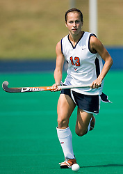 Virginia Cavaliers F Taylor Swezey (13)..The Virginia Cavaliers field hockey team fell to the Boston University Terriers 3-0 at the University Hall Turf Field in Charlottesville, VA on September 23, 2007