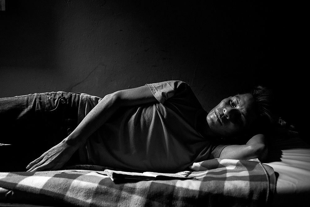 "According to the UN program for HIV / AIDS, Peru has managed to reduce deaths by 50%. And the access to retro virals has increased, also the contagion. What is the worst thing about having HIV / AIDS? Maybe not have something like a home to be safe from infections and diseases that are deadly. Maybe have to hide from prejudiced relatives and neighbors. Or not be able to receive the necessary medicines in time. Not knowing that one carries the virus, not knowing how the contagion was. The shelter ""Algo Bello para Dios"", located in Iquitos, Loreto, be home people with HIV / AIDS, many of them at the terminal stage, who have nowhere to go or who have been evicted in hospitals. They are served by a team of volunteers, who despite not having the necessary financial resources offer them in giving them quality of life. Currently, in Loreto there are 2,530 HIV carriers and 1,003 AIDS patients. It is, after Lima, one of the regions with the highest incidence of cases. Places like the shelter ""Algo Bello para Dios"" helps, sometimes, as last hope. Iquitos, Loreto, Peru, September 2012."