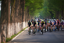 Marcella Toldi (BRA) and Holly Breck (USA) on the front at Tour of Chongming Island 2018 - Stage 2, a 121.3km road race from Changxing Fenghuang Park to Chongming Island on April 27, 2018. Photo by Sean Robinson/Velofocus.com
