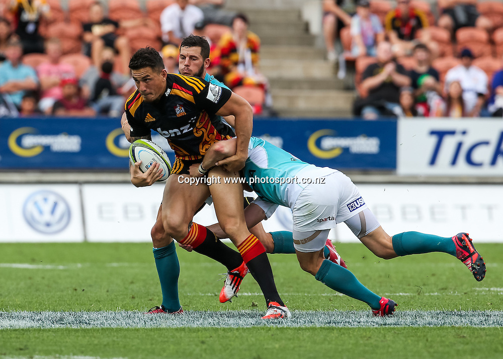 Chief's Sonny Bill Williams in action during the the Super 15 Rugby match - Chiefs v Cheetahs, at Waikato Stadium, Hamilton, New Zealand on Saturday 28 March 2015.  Photo:  Bruce Lim / www.photosport.co.nz