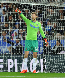 FELIX WIEDWALD GOALKEEPER LEEDS UNITED, Leicester City v Leeds United EFL League Carabao Cup  Fourth Round, King Power Stadium Tuesday 24th October 2017, Score 2-1, Photo:Mike Capps