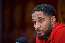 CARDIFF, WALES - Friday, November 11, 2016: Wales' captain Ashley Williams during a press conference at Cardiff City Stadium ahead of the 2018 FIFA World Cup Qualifying Group D match against Serbia. (Pic by David Rawcliffe/Propaganda)