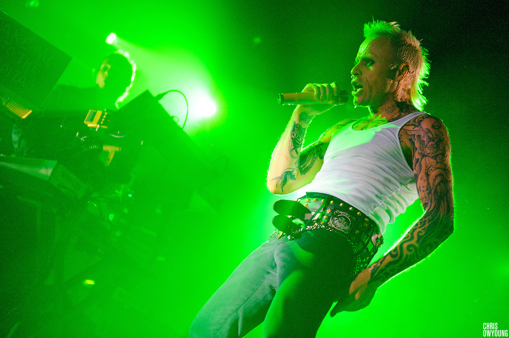 "The Prodigy performs in support of their new ""album Invaders Must Die"" at Roseland Ballroom in New York City. March 26, 2009."