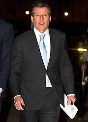 © Licensed to London News Pictures. 02/12/2015. London, UK. Lord SEBASTIAN COE leaving the Houses of Parliament in London after giving evidence before a Commons Culture Media and Sport committee on blood-doping allegations. Lord Coe, who is president of the IAAF (International Association of Athletics Federations) has come under pressure following allegations of widespread doping in athletics.   Photo credit: Ben Cawthra/LNP
