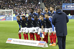 March 23, 2018 - Saint-Denis, Ile-de-France, France - France Team; during the friendly football match between France and Colombia at the Stade de France, in Saint-Denis, on the outskirts of Paris, on March 23, 2018. (Credit Image: © Elyxandro Cegarra/NurPhoto via ZUMA Press)