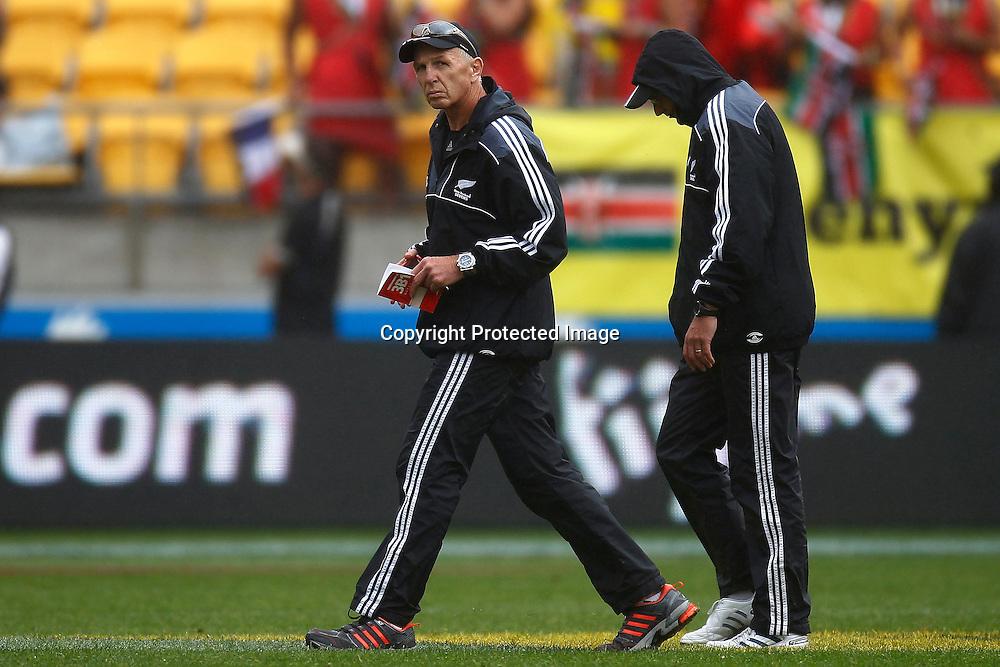 Gordon Tietjens. Hertz Wellington Sevens - Day two at Westpac Stadium, Wellington, New Zealand on Saturday, 4 February 2012. Photo: Ella Brockelsby / photosport.co.nz