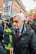 John McDonnell MP, the Shadow Chancellor pays the march a visit before it heads off - A student march against fees and many other issues starts in Malet Street and heads for Westminster via the West End.