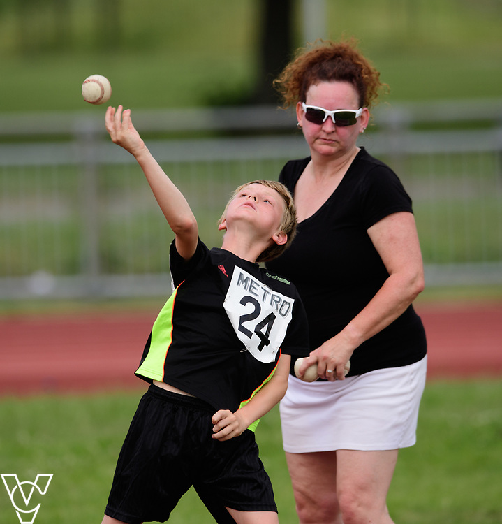 Metro Blind Sport's 2017 Athletics Open held at Mile End Stadium.  Ball throw.  Ben Reynolds<br /> <br /> Picture: Chris Vaughan Photography for Metro Blind Sport<br /> Date: June 17, 2017