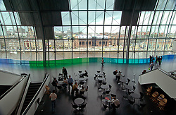 Cafe area; Sage Gateshead; new music venue; Newcastle UK