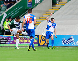 Plymouth Argyle's Reuben Reid shoots  - Photo mandatory by-line: Dougie Allward/JMP - Tel: Mobile: 07966 386802 07/09/2013 - SPORT - FOOTBALL -  Home Park - Plymouth - Plymouth Argyle V Bristol Rovers - Sky Bet League Two