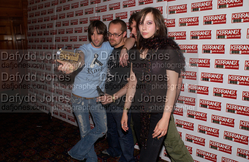 The Kerrang Awards 2004. the Brewery, Chiswell st. London. 26 August 2004. SUPPLIED FOR ONE-TIME USE ONLY-DO NOT ARCHIVE. © Copyright Photograph by Dafydd Jones 66 Stockwell Park Rd. London SW9 0DA Tel 020 7733 0108 www.dafjones.com