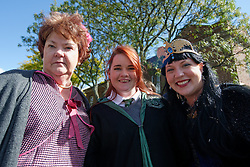 Cindy Keller as Professor Dolores Umbridge, Kirsten Keller and Brittany Shade in her roll as Rowena Ravenclaw came from Gettysburg, PA to attend the event. (Bastiaan Slabbers/for PhillyVoice)