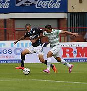 Dundee's Phil Roberts gave Celtic's Emilio Izaguirre a torrid time - Dundee v Celtic SPFL Premiership at Dens Park<br /> <br />  - &copy; David Young - www.davidyoungphoto.co.uk - email: davidyoungphoto@gmail.com