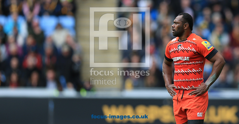Vereneki Goneva of Leicester Tigers during the Aviva Premiership match at the Ricoh Arena, Coventry<br /> Picture by Michael Whitefoot/Focus Images Ltd 07969 898192<br /> 09/05/2015