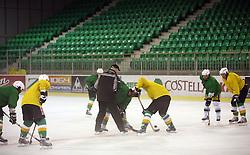 Game at second ice hockey practice of HDD Tilia Olimpija on ice in the new season 2008/2009, on August 19, 2008 in Hala Tivoli, Ljubljana, Slovenia. (Photo by Vid Ponikvar / Sportal Images)