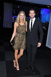 DONNA AIR and JAMES TAYLOR at the annual Collars & Coats Gala Ball in aid of Battersea Dogs & Cats Home held at Battersea Evolution, Battersea Park, London on 11th November 2011.