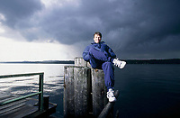 Fotball<br /> Bayern München<br /> Foto: Witters/Digitalsport<br /> NORWAY ONLY<br /> <br /> Lothar Matthäus am Starnberger See<br /> Fussball FC Bayern Muenchen<br /> 1999