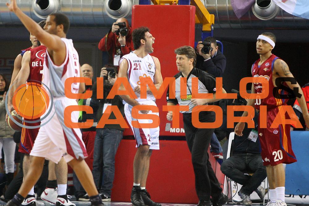 DESCRIZIONE : Rieti Lega A1 2008-09 Solsonica Rieti Lottomatica Virtus Roma<br /> GIOCATORE : Vangelis Sklavos<br /> SQUADRA : Solsonica Rieti<br /> EVENTO : Campionato Lega A1 2008-2009 <br /> GARA : Solsonica Rieti Lottomatica Virtus Roma<br /> DATA : 21/12/2008 <br /> CATEGORIA : esultanza<br /> SPORT : Pallacanestro <br /> AUTORE : Agenzia Ciamillo-Castoria/E.Castoria