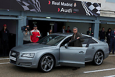 NOV 8 2012 Real Madrid Players Audi Cars