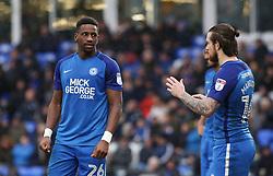 Omar Bogle of Peterborough United talks tactics with Jack Marriott - Mandatory by-line: Joe Dent/JMP - 03/02/2018 - FOOTBALL - ABAX Stadium - Peterborough, England - Peterborough United v Southend United - Sky Bet League One