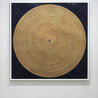 Artwork '9,784 Prayers' by Gonkar Gyatso is on display at Pearl Lam Galleries booth at Art Basel Hong Kong 2016 on March 23, 2016 in Hong Kong, China. Photo by Lucas Schifres / studioEAST
