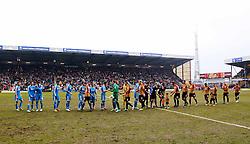 The teams line up ahead of kick off - Photo mandatory by-line: Matt McNulty/JMP - Mobile: 07966 386802 - 15/02/2015 - SPORT - Football - Bradford - Valley Parade - Bradford City v Sunderland - FA Cup - Fifth Round