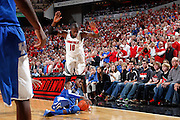 LOUISVILLE, KY - DECEMBER 29: Nerlens Noel #3 of the Kentucky Wildcats goes to the floor for the ball against Gorgui Dieng #10 of the Louisville Cardinals at the KFC Yum! Center in Louisville, Kentucky. Louisville won 80-77. (Photo by Joe Robbins)
